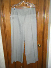 Worthington Stretch Silver Metallic High Waisted Wide Leg Dress Pants - Size 18