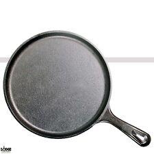"Lodge Cast Iron Griddle Round Pre-Seasoned Skillet 10.5"" Black Cookware OvenSafe"