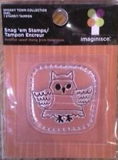 Spooky town Collection - Owl Snag 'em clear stamps Halloween Retired