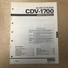 Original Yamaha Service Manual for the CDV-1700 CD CDV LD Player