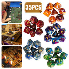 35pcs Polyhedral Dice Set for DND RPG MTG Game Dungeons & Dragons D4-d20 Colors