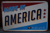 MADE IN AMERICA Poster Vintage Metal Tin Sign Home Pub Bar Decor