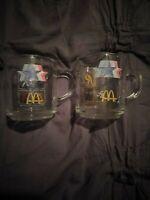 2 Piece Set 1984 McDonald's Olympics Clear Glass Coffee Mugs