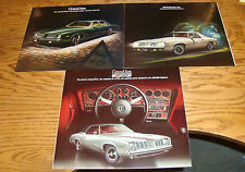 Original 1973 1974 1975 Pontiac Grand Am Sales Brochure Lot of 3 73 74 75