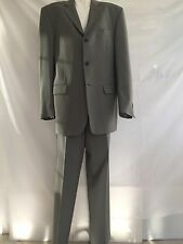 GIANFRANCO FERRE STUDIO Olive Gray Suit Size 40R Made in Italy
