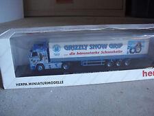 RARE Herpa Private 1/87 Volvo RH 16 XL Grizzly Snow Tractor Trailer Truck NIB