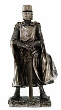 "7"" H Medieval Crusader Knight w Sword and Armor Elite Templar Figurine Statue"