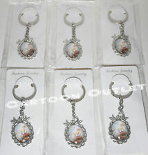 12 BAPTISM KEY CHAINS BAUTIZO CHRISTENING RECUERDOS BOYS GIRLS VIRGIN FAVOR GIF