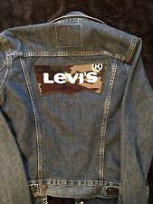 Levi's Mens Jacket Blue Size SMALL Double Breasted Trucker Jean