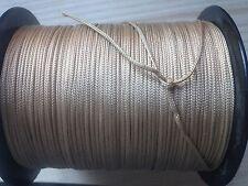 (0,30 €/m) 20m SATTLERGARN - Geflochten - Goldbeige 100% POLYSTER Ø 1,4mm