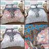 Elephant Mandala Duvet Cover Bedding Set King Size Double Single Reversible Quil