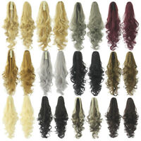 24''Queen Wig long vague Clip in/on queue de cheval ondulee extension de cheveux