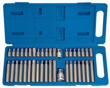 """40 x Torx Hex Star Spline Sockets Bit Set 1/2"""" 3/8"""" Drive Power Tool Bits Garage"""