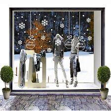 vetrofanie natalizie adesivi natale vetrine negozio neve ghiaccio a0325