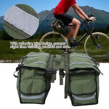 Bicycle Bike Cycle Rear Rack Bag Carry Carrier Saddle Bag Double Pannier Stable