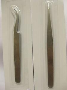 2 x TWEEZERS RHINESTONES GEM TOOLS FINE POINTED NAIL ART CRAFTS DIAMONTE CRY