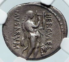 New ListingRoman Republic Hercules w Lyre Leader of Muses Ancient Silver Coin Ngc i85490