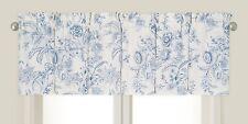 CLEMENTINA BLUE TOILE WINDOW VALANCE : COTTAGE WHITE DUSK WILLIAMSBURG