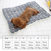 Pet Soft Warm Fleece Blanket Bed Mat For Puppy Cat Sofa Flannel Cushion GIFT