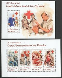 ST1783 2013 S. TOME & PRINCIPE ORGANIZATIONS RED CROSS KB+BL MNH STAMPS