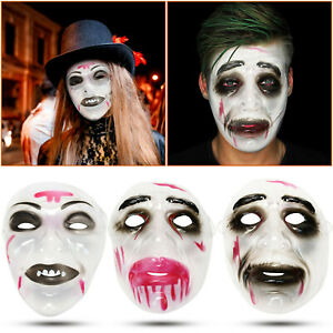 Adult Full-face Bloody Mask Halloween Party Realistic Mask With Elastic Band