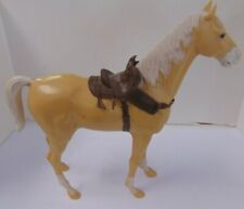 Vtg Usa 1960s Louis Marx & Co Inc Best of the West Johnny West Beige Horse Bh606