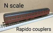 Undecorated Pullman passenger coach car N scale Atlas brown sleeper heavyweight