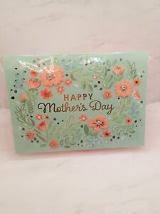American Greeting Mothers Day Card ONE AMAZING MOM Floral Embellished Blue
