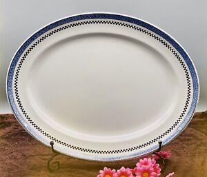Vintage Losol Ware Pompadour Keeling & Co Burslem England Serving Meat Plate