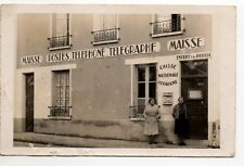 MAISSE Essonne CPA 91 Belle CARTE PHOTO bureau de poste et telegraphe photo 1944