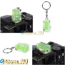 Mini Portable 2-Way Bubble Spirit Level Gradienter w/Keychain Fr Hot Shoe Camera
