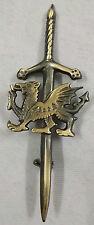 "New Celtic Kilt Pin Welsh Dragon Antique Finish 4""/Welsh Dragon Kilt Pins Sword"