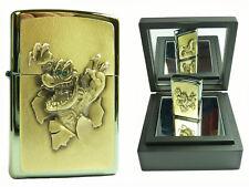 Zippo Golden Gator on Stage limited Edition Emblem Spiegelbox xxx/500 Aligator