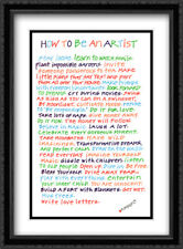 How to Be an Artist 2x Matted 19x27 Large Black Ornate Framed Art Print by Sark