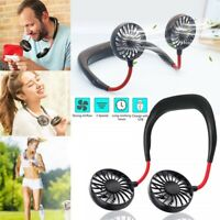 Hands-free USB Fan Neck Hanging Cooler Charging Mini Sports Fan 3 Gears Air Cond