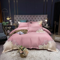 Luxury Egyptian Cotton Embroidery Bedding Set  Duvet Cover Flat/Fitted Sheet