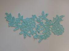 Verde Azul Encaje Floral Aplique/Vestido costura algodón motivo ES a la venta