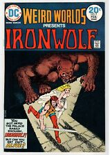 Dc - Weird Worlds #9 Iron-Wolf - Chaykin Art - Vf Feb 1974 Vintage Comic Book