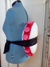 Sushi Costume Pillow Tako Octopus Set with Nori Belt and Headpiece
