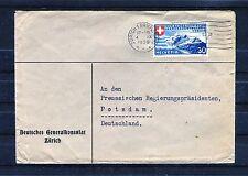 Schweiz Michel Nr. 337 als EF auf Bedarfsbrief - b0686