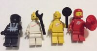 LEGO Vintage Classic Space Minifigure 4 Colors Red Yellow Black White Lot