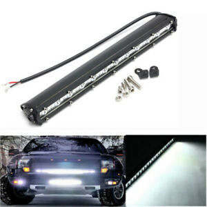 Slim 14'' 36W LED Work Light Bar Spot Driving Fog Light Off Road SUV Truck 6000K