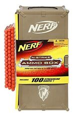Brand New NERF N-Strike AMMO BOX 100 Clip System Darts RARE