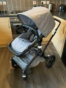 Bugaboo Fox 2 in 1 Pushchair - Carry Cot + Canopy - Melange Gray