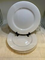 """Set Of 4 Let's Eat WHITE Cater To Me 4575 10.75"""" Dinner Plates"""