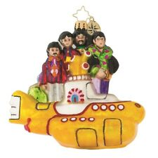 Christopher Radko All Together Now Beatles With Yellow Submarine Ornament - NIB