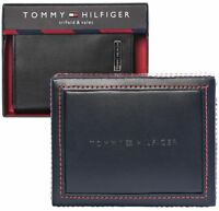 Nwt Tommy Hilfiger Leather Wallet Trifold Black