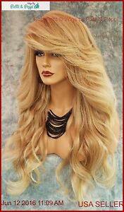 "28"" WAVY HEAT FRIENDLY WIG COLOR T27.613  GORGEOUS SEXY LONG THICK USA 147"
