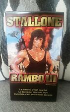 Rambo III 3 VHS Francais French Quebec rare Near MINT