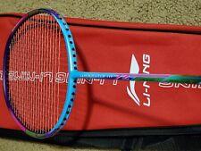 Li-Ning Windstorm 72 SL Badminton Racquet, Dark Purple/Pink